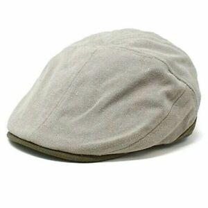 Stetson BURR STC331 Khaki Washed Pigment Dyed Canvas Paperboy Hat Cap Mens L