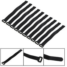 10X 20*2cm Black Strong RC Battery Down Tie Reusable Strap Antiskid Cable Straps