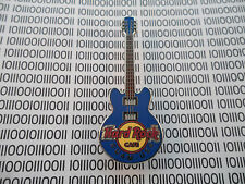Hard Rock Cafe Guam 2013 - 3 string Blue Core Guitar with Hrc Logo - Hrc Pin
