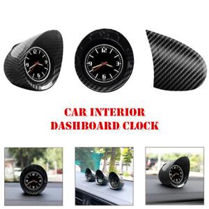Carbon Fiber Car Dashboard Clock Electronic Luminous Backlight Shading Decorate