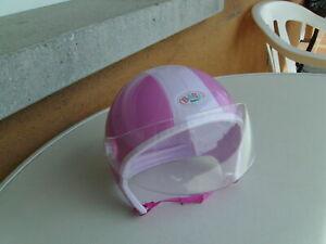 Baby Born Fahrrad - Rollerhelm mit Visier....pink- rosa....echt süss