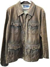 Ralph Lauren Polo Leather Safari Jacket XXL