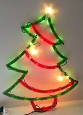 CHRISTMAS TREE SILHOUETTE Lighted Window Decoration Indoor / Outdoor Use NEW