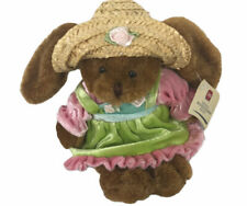 "Plushland MS Society Beanie Bunny Rabbit 9"" Plush With Dress & Hat"