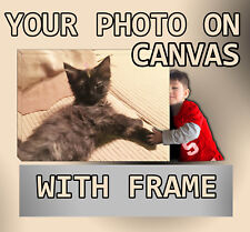 "YOUR CUSTOM PERSONALIZED PICTURE PHOTO PRINT ON CANVAS WITH FRAME 8 X 12"" GICLEE"
