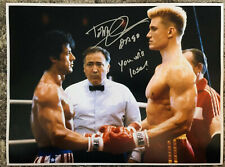 Dolph Lundgren Signed Rocky 4 Photo With You Will Lose And Drago Inscription