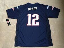 New England Patriots TOM BRADY #12 NFL Navy Replica Jersey YOUTH XL 18-20 NWT$55