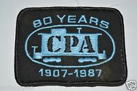WOW Vintage CPA Caboose Train Rail Road Patch 1907 - 1987 Jacket Patch Rare