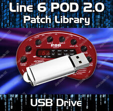 More details for line 6 pod 2.0 guitar effects pedals -  sounds tone patches library 1650+ usb