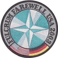 Luftwaffe Patch Aufnäher JG 73 Fulcrum Farewell USA 2003 - MIG 29 .........A4995