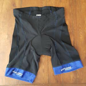 California Wildflower Triathlon XL Cycling Shorts Compression Padded Blue Black