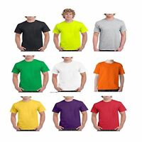 Men's Plain 100% Cotton Blank T-shirt Gildan Various Colour sizes S - 2XL New