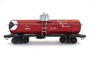 Pre War Lionel OO GAUGE CP Canadian Pacific Tank on Scale Craft Frame (888)