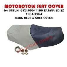 SUZUKI GSX1100S GSX 1100 S KATANA GSX750S DARK BLUE & GREY SEAT COVER & STRAP