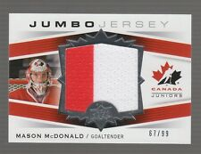 (55215) 2014-15 UPPER DECK TEAM CANADA JUNIORS MASON McDONALD JUMBO SWATCH #JS14