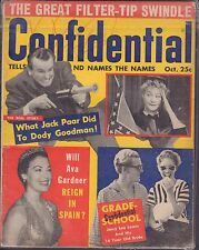Confidential October 1958 Jack Paar, Jerry Lee Lewis  VG 041316DBE
