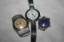 Set 3 watch mechanical USSR Rare  WRIST WATCH-LADY,S Not working for parts