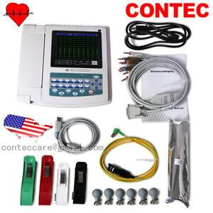 CONTEC portable 12 lead ecg machine digital 12 Channel, Electrocardiograph,FDA