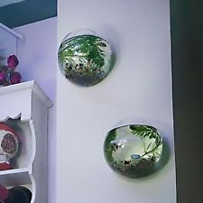 10cm Hanging Glass Flower Planter Vase Terrarium Container Home Ball Decor AU