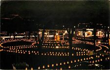 Albuquerque New Mexico~Christmas Eve In Old Town Plaza At Night~Luminarias~1950s
