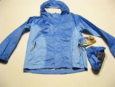 Sierra Designs Girls Hurricane HP Outdoor Raincoat Jacket S Light Blue Hooded