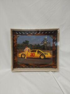 "NASCAR Vintage Wood Wall Clock #30 Micheal Waltrip 13""x11.5"" New Sealed!  NOS"