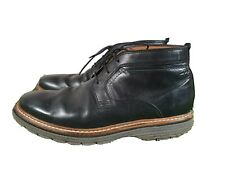 CLARKS Extralight Chukka Ankle Boots UK 6.5 Mens, Black, Blue Stitching, Leather