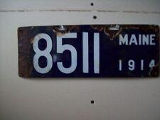1914  Maine Porcelain License Plates #8511-Garage-Gas Station-Ford-Chevy-Dodge