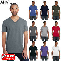 Anvil Men's T-Shirt Lightweight Fashion V-Neck Tshirt S-XL T Shirt 982 Top Tee