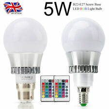 B22 E14 Lamp RGB 16 Colour Changing Remote Controlled LED Light Bulb 5W Bulb NEW