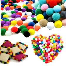 140Pcs Soft Round Pom Poms Ball Fluffy Craft Mixed Color Pom Poms DIY Craft 15mm