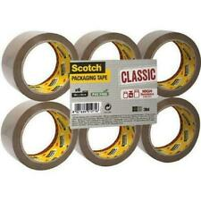 Scotch 3M Buff Classic High Resistance Adhesive Packaging Tape 66mx50mm x6 Rolls