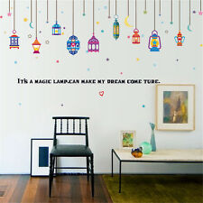 Arab Color Lights Room Home Decor Removable Wall Stickers Decals Decoration