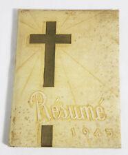 The Resume' Springfield MO Missouri 1945 High School Yearbook