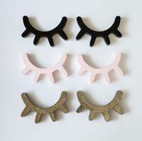 2 Pcs 3D Eyelash Closed Eye DIY Wall Decals Stickers Home Wood Art Craft Decor