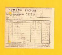"""PARIS (I°) FRUITS & PRIMEURS / CONSERVES ALIMENTAIRES """"POMONA"""" en 1940"""