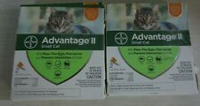 New listing Advantage Ii Topical Small Cat Flea Treatments - 2 Boxes 2 treatments each (4)
