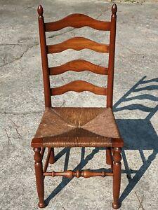 HENKEL HARRIS Cherry Ladderback Chair Rush Seat