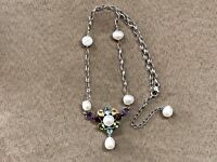 QVC STERLING SILVER 925 ROSS SIMONS CULTURED PEARL NECKLACE