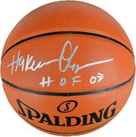 Hakeem Olajuwon Houston Rockets Signed Indoor/Outdoor Basketball w/ HOF 08 Insc