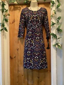 WEIRD FISH NADINE BERRY RED SEA TRAILING THICK JERSEY MIDI DRESS SIZE 12