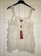 Monsoon Lilly Women's Ivory Sleeveless Top, Size 12. NEW rrp £45. 100% Silk