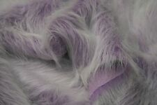 LONG Pile Fun Faux Fur Fabric Material - LILAC FROST