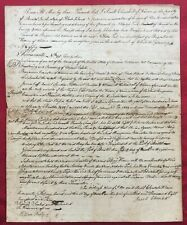 "1803 BILL OF SALE ""HIRAM OF WARREN"" SAILING SHIP  to NICHOLAS PECK - BRISTOL, RI"