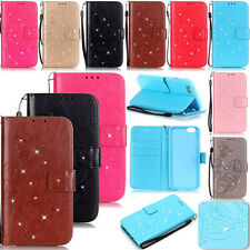 LiYB Rhinestone Leather Flip Case Cover For Apple iphone 6S 6 7 Plus 5S 4S Touch