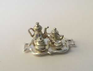 Dolls House Silver Coffee Set