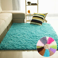 1PC Fluffy Rugs Anti-Skid Area Rug Living Room Bedroom Carpet Home Floor Mats