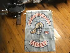 Sandy's patch & stone movie DVD biker printed poster man cave flag banner