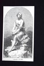 """""""Ariadne"""", di Kirk Incisione del 1851"""