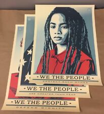 "Shepard Fairey Obey WE THE PEOPLE Offset Litho Print - 3 POSTER 18"" x 24"" SET"